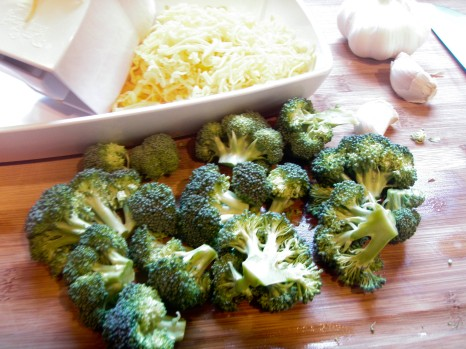 broc cheese garlic